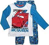 Cars Disney 3 Kollektion 2017 Ökotex Standard 100 Schlafanzug 92 98 104 110 116 122 128 Jungen Pyjama Lang Lightning McQueen Weiß-Blau (92-98; Prime, Weiß-Blau)