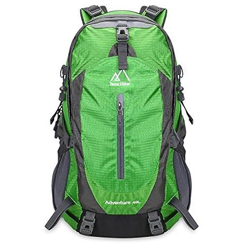 Terra Hiker Sac à Dos de Randonnée Avec Système d'Aération et Housse de Protection Inclus, 40 L