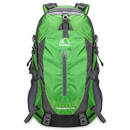 Imagen de terra hiker 40l  de senderismo con marco extraíble  de trekking para escalada alpinismo y acampada verde
