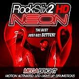 ROT-ROCKSTIX2 NEON-HD ULTRA HELLE LED-LIGHT UP DRUMSTICKS …