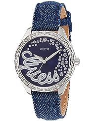 Guess Damen-Armbanduhr Analog Quarz Textil W0023L5
