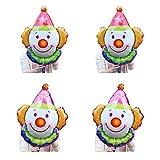 Clown viso Foil Palloncino 4 pezzi divertente Kids Party Jumbo decorazioni sorridente pagliaccio alluminio Palloncino