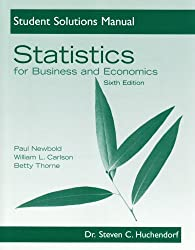Statistics for Business and Economics: Student Solutions Manual