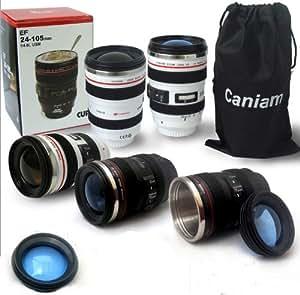 tinxi® Caméra Café Tasse Camera Lens tasse / Objectif tasse de café pour AF-S 24-105mm Tasse Camera Lens Gobelet dans la lentille de la caméra (blanc, 24-105mm)