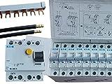 EATON-Set 2, 24x LS-Schalter B16A, 1x FI-Schalter 40/0,03A, 2x Phasenschiene, 6x Verdrahtungsbrücke