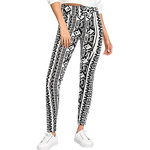 Leggins Pantalones Deportivos Elásticos Estampados Leggings Deporte para Running Fitness Yoga con efecto de compresión y función de secado rápido Mujer Fannyfuny