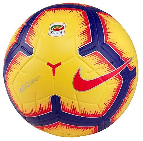 Nike Pallone da Calcio Serie A 2019 Merlin Ufficiale Originale SC3373 710 Giallo da Partita Size 5 Campionato Italiano 2018/2019 Palloni