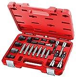 USAG - 1881 S22 - Set di 22 chiavi per lo smontaggio e il montaggio delle ghiere pulegge alternatori - U18810082