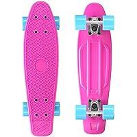 BIKESTAR Original Vintage Retro Cruiser Skateboard für Kinder und Erwachsene auch Anfänger ab ca. 6 - 8 Jahre   60mm Kinderskateboard Retroboard  