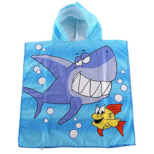 "Orsit Kids Hooded Beach Bath Towel for Age 2-8 Years - Swim Pool Coverup Poncho Cape -Multi-use for Bath/Shower/Pool/Swim 24"" x 48"" (Blue mermaid)"