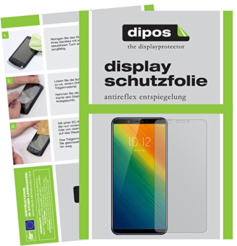 dipos I 2X Schutzfolie matt passend für Lenovo K5 Note 2018 Folie Bildschirmschutzfolie