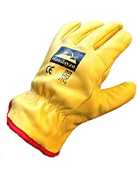 Himalayan H310 Fleece Lined Leather Winter Thermal Cold Work Drivers Gloves PPE