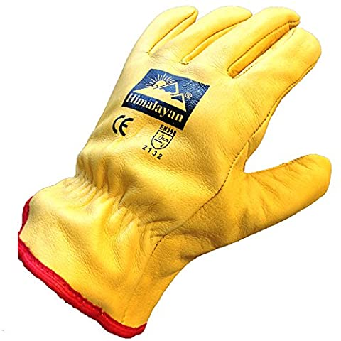 Himalayan H310 Fleece Lined Leather Winter Thermal Cold Work Drivers Gloves PPE (Size 10 - X-Large)