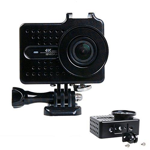 Carcasa para cámaras de acción Xiaomi Yi 4k Xiao Yi 2 con accesorios y filtro de UV, color negro