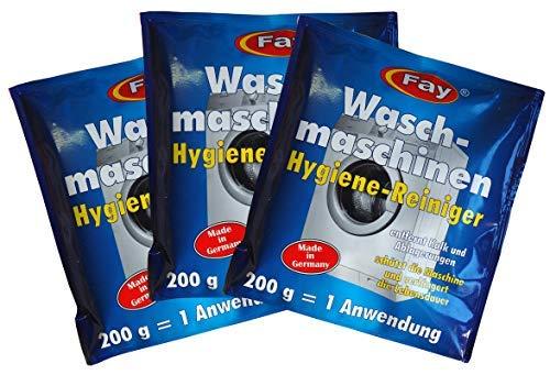 3 x Fay Waschmaschinen Hygiene-Reiniger 200g, Waschmaschinen-Pflege, Entkalker