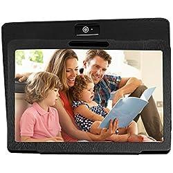 KXD Tablet de 10 Pulgadas, con Procesador de Ocho núcleos, WiFi, Navegación, Bluetooth,2GB de RAM+ 32GB de Memoria, Dual SIM 3G, también es un móvil.