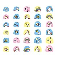 Aosheng Multiple PCS Kid New Design Unicorn Star Rainbow Nail Art Stickers for Girl Easy DIY Style Multiple Colours Party Favor