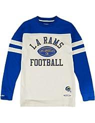 "Los Angeles Rams Mitchell & Ness NFL ""Swing Pass"" Men's Heavyweight L/S Shirt Chemise"