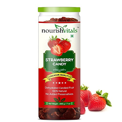 Nourish Vitals Strawberry Dried Fruit - 200gm (Dehydrated Fruits)