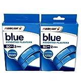 Azul tiritas–2x 80llaves incluidas (160tiritas en total)–2tamaños