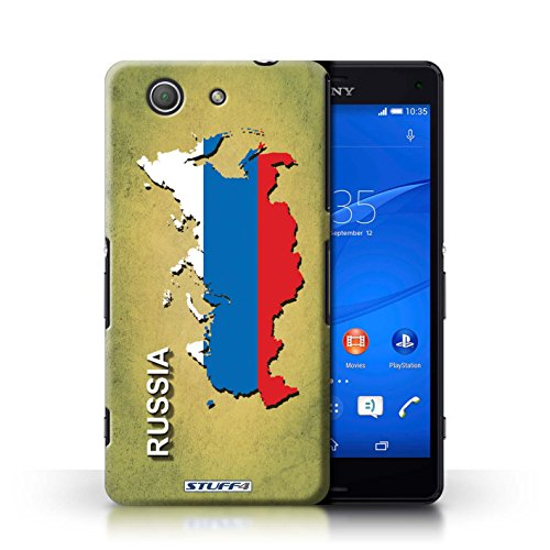 Kobalt® Imprimé Etui / Coque pour Sony Xperia Z3 Compact / Australie conception / Série Drapeau Pays Russie/Russe