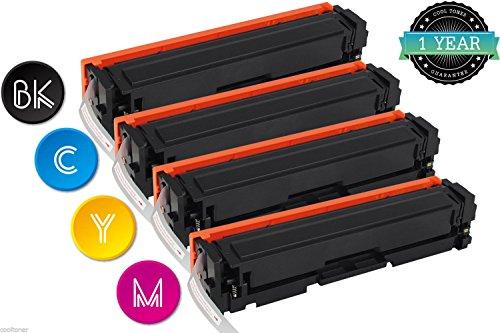 Cool Toner Compatibile Toner per CF400XK CF401X CF402X CF403X 201X per HP Color LaserJet Pro M252dw M252n MFP M277dw M277n(Nero, Blu, Magenta, Giallo, Confezione da 4 pezzi)