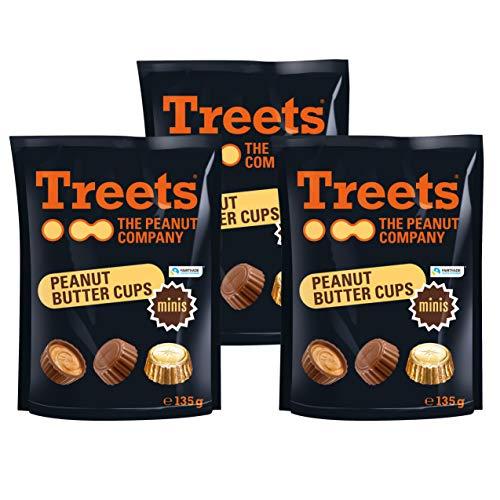 Treets Peanut Butter Cups Mini (3 x 135g)