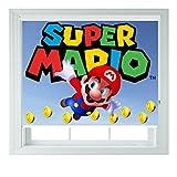 New Super Mario Kinder verschiedene Größen Foto schwarz Rollo für Schlafzimmer Badezimmer Küche und Wohnwagen AOA®, 152 cm