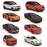 CMJ RC Cars a Distanza Controllo Supercar Range Luci LED , 2.4ghz Race 10 Insieme - Mini Countryman Cooper S All4 Rosso, 1:24 Scale