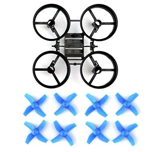 GEEDIAR® Original JJRC H36 Drohne Ersatzteile Propeller Stützen mit Rahmen für JJRC H36 Eachine E010 und Blade Inductrix Micro Drone - 2