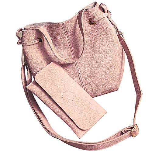 Longra Donne L'insieme composito sacchetti in rilievo Rosa