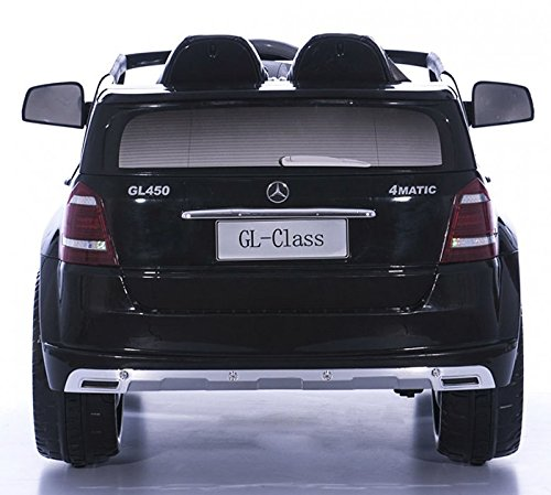 RC Auto kaufen Kinderauto Bild 4: crooza Mercedes-Benz SUV GL450 GL 450 Jeep 12V Kinderauto Kinderfahrzeug Kinder Elektroauto (Schwarz)*