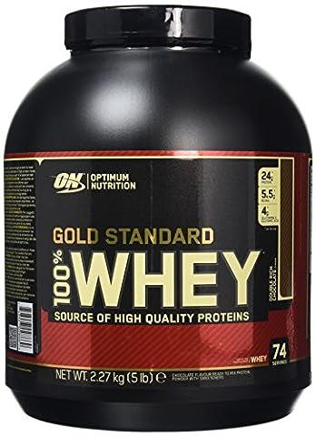 Optimum Nutrition Gold Standard 100% Whey Protein Powder - 2.27 kg, Double Rich Chocolate