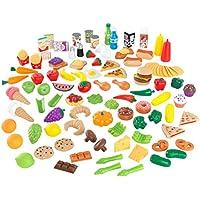 KidKraft 63330 Surtido de comida de juguete Deluxe Tasty Treats, juego de imitación para niños con 115 accesorios incluidos