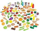 KidKraft 63330 Tasty Treats Spielzeug-Lebensmittel mit 115 Küchenspielzeug-Accessoires und Zubehör für Kinder-Spielküchen