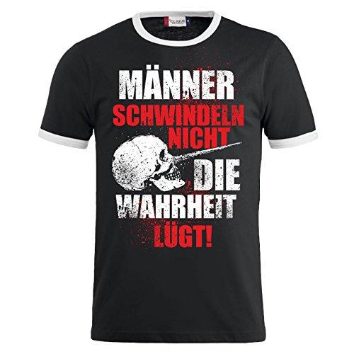 Männer und Herren T-Shirt Männer schwindeln nicht die Wahrheit lügt Dunkelblau