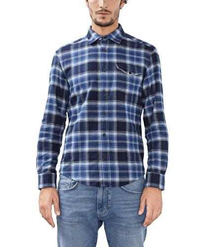 ESPRIT, Camicia Uomo, Blu Blu (navy 400)