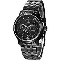 Alienwork IK Automatic Watch Self-winding Multi-function Mechanical Metal black black 98535G-01