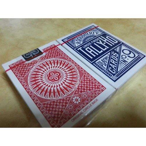 Solomagia 2 (due) mazzi di carte tally ho - circle back - dorso rosso e blu