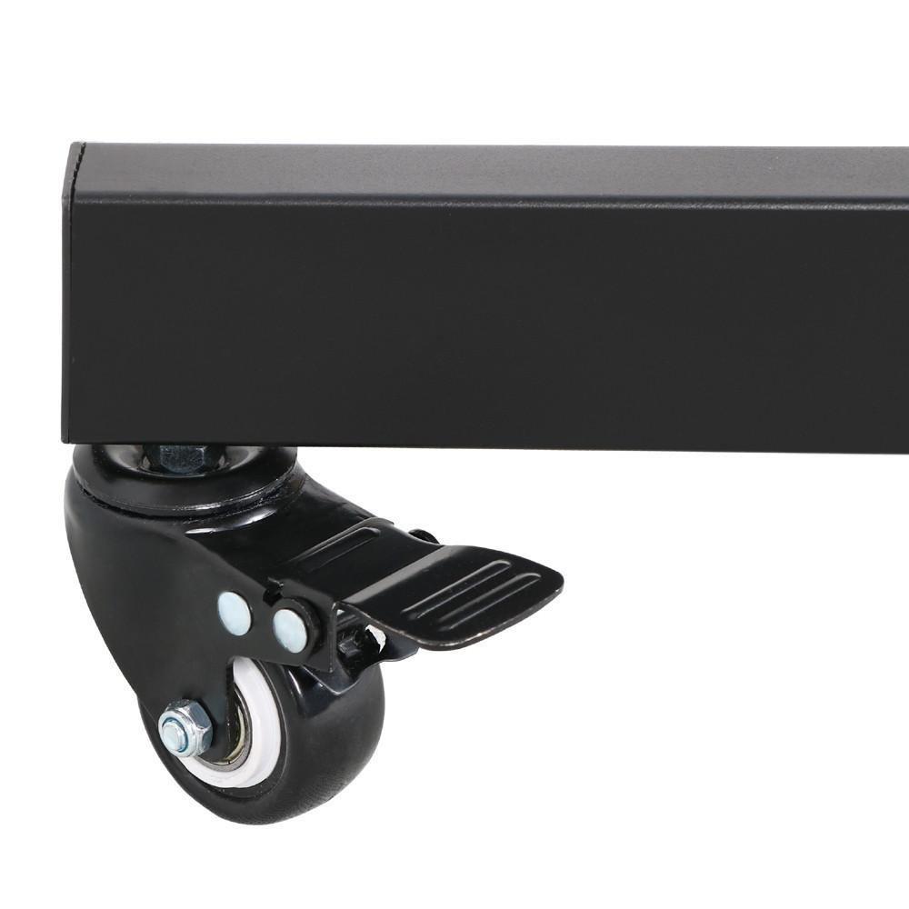Carrelli Porta Tv Lcd.Yaheetech Supporto Staffa Per Tv Carrello Porta Tv Con Ruote A Terra Ripiano Per Monitor Tv Lcd Led Plasma Da 32 A 65 Pollici Vesa Da 200x200 Mm A
