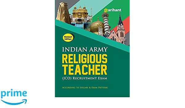 Buy Indian Army Religious Teacher Jco Recruitment Exam Book Online