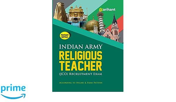 Buy Indian Army Religious Teacher Jco Recruitment Exam Book Online