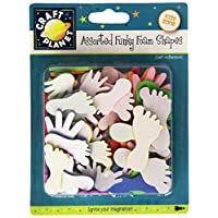 Craft Planet Hands/Feet Shapes Funky Foam (30 Pieces)