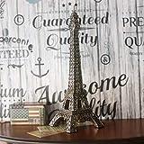 GFF Amerikanisches Land Retro Ornamente Paris-Eiffelturm-Modell Übergroßes grünes Harz Macht Weltklassisches Architekturmodell in Handarbeit