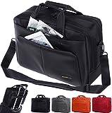 Laptop Bag ,BRINCH 15.6 Inch Nylon Stylish Roomy Multi-compartment Laptop Shoulder Messenger Bag Handle Bag Tablet Briefcase For 15 - 15.6 Inch Laptop / Notebook / Macbook / Tablet Computers,Black