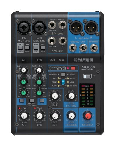 Yamaha MG06X mixer professionale con effetti per live, karaoke, ecc..