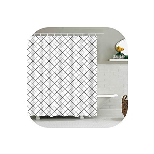 chte Sitzwanne für Badezimmer Wohnkultur Polyester-Gewebe geometrisches Muster, 2, W180xH180cm ()