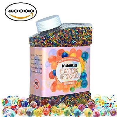 Perles d'eau Rubikliss Lot (40000Perles) Rainbow Mix Perles d'eau Gel boules de croissance pour Orbeez recharge de spa, enfants Jouets sensoriels, vases, Plante, DE Mariage et décoration de maison