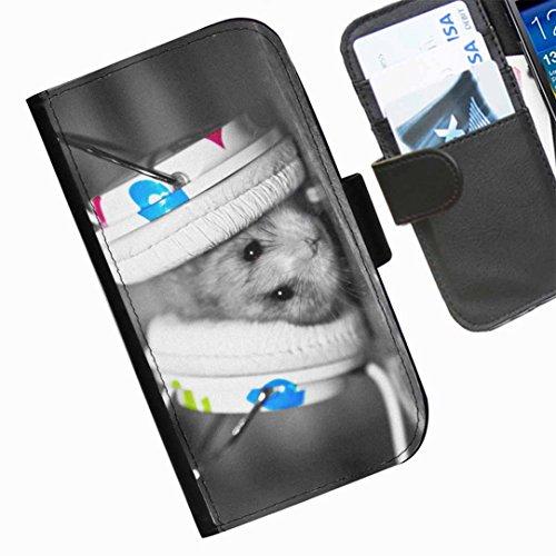 Hairyworm - lustige Tiere Blackberry 9720 Leder Klapphülle Etui Handy Tasche, Deckel mit Kartenfächern, Geldscheinfach und Magnetverschluss.