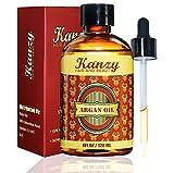 KANZY - Arganöl - 100% rein - 120 ml - Argan Oil - Pipette - für Haut, Augen, Haare & Nägel - Haaröl Körperöl Gesichtsöl Hautöl Anti-Aging -